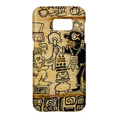Mystery Pattern Pyramid Peru Aztec Font Art Drawing Illustration Design Text Mexico History Indian Samsung Galaxy S7 Hardshell Case