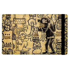 Mystery Pattern Pyramid Peru Aztec Font Art Drawing Illustration Design Text Mexico History Indian Apple iPad Pro 12.9   Flip Case