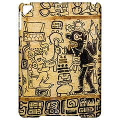 Mystery Pattern Pyramid Peru Aztec Font Art Drawing Illustration Design Text Mexico History Indian Apple iPad Pro 9.7   Hardshell Case