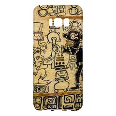 Mystery Pattern Pyramid Peru Aztec Font Art Drawing Illustration Design Text Mexico History Indian Samsung Galaxy S8 Plus Hardshell Case