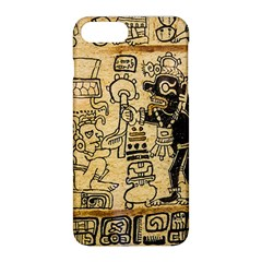 Mystery Pattern Pyramid Peru Aztec Font Art Drawing Illustration Design Text Mexico History Indian Apple iPhone 8 Plus Hardshell Case