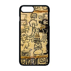 Mystery Pattern Pyramid Peru Aztec Font Art Drawing Illustration Design Text Mexico History Indian Apple iPhone 8 Plus Seamless Case (Black)