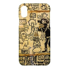 Mystery Pattern Pyramid Peru Aztec Font Art Drawing Illustration Design Text Mexico History Indian Apple iPhone X Hardshell Case