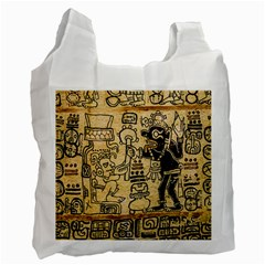Mystery Pattern Pyramid Peru Aztec Font Art Drawing Illustration Design Text Mexico History Indian Recycle Bag (one Side) by Celenk