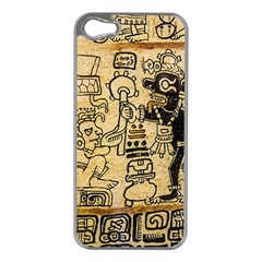 Mystery Pattern Pyramid Peru Aztec Font Art Drawing Illustration Design Text Mexico History Indian Apple Iphone 5 Case (silver) by Celenk