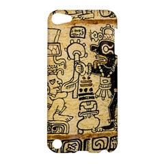 Mystery Pattern Pyramid Peru Aztec Font Art Drawing Illustration Design Text Mexico History Indian Apple Ipod Touch 5 Hardshell Case by Celenk