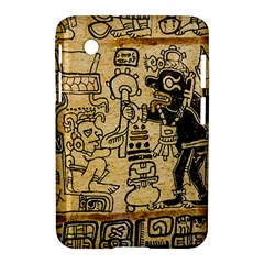 Mystery Pattern Pyramid Peru Aztec Font Art Drawing Illustration Design Text Mexico History Indian Samsung Galaxy Tab 2 (7 ) P3100 Hardshell Case  by Celenk