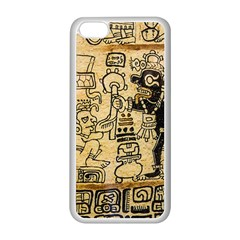 Mystery Pattern Pyramid Peru Aztec Font Art Drawing Illustration Design Text Mexico History Indian Apple Iphone 5c Seamless Case (white) by Celenk