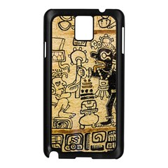 Mystery Pattern Pyramid Peru Aztec Font Art Drawing Illustration Design Text Mexico History Indian Samsung Galaxy Note 3 N9005 Case (black)