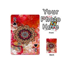Mandala Art Design Pattern Ethnic Playing Cards 54 (mini)  by Celenk