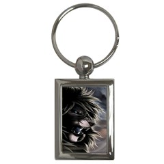 Angry Lion Digital Art Hd Key Chains (rectangle)
