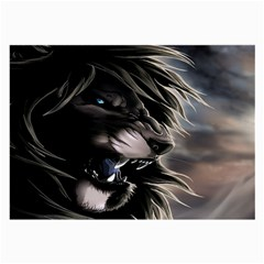 Angry Lion Digital Art Hd Large Glasses Cloth (2 Side) by Celenk