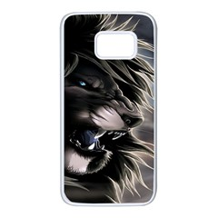 Angry Lion Digital Art Hd Samsung Galaxy S7 White Seamless Case