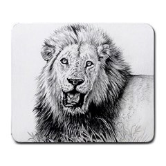 Lion Wildlife Art And Illustration Pencil Large Mousepads by Celenk