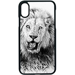 Lion Wildlife Art And Illustration Pencil Apple Iphone X Seamless Case (black)