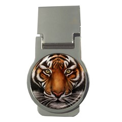The Tiger Face Money Clips (round)  by Celenk