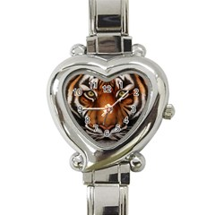 The Tiger Face Heart Italian Charm Watch by Celenk