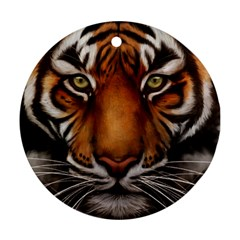 The Tiger Face Round Ornament (two Sides)