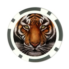 The Tiger Face Poker Chip Card Guard by Celenk
