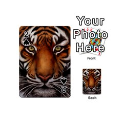 The Tiger Face Playing Cards 54 (mini)  by Celenk