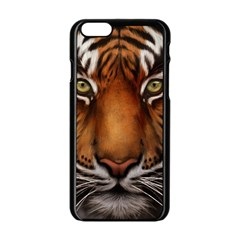 The Tiger Face Apple Iphone 6/6s Black Enamel Case by Celenk