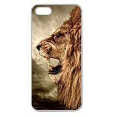 Roaring Lion Apple Seamless Iphone 5 Case (clear) by Celenk
