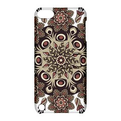 Mandala Pattern Round Brown Floral Apple Ipod Touch 5 Hardshell Case With Stand by Celenk