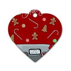 Hilarious Holidays  Dog Tag Heart (two Sides) by Valentinaart