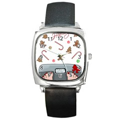 Hilarious Holidays  Square Metal Watch
