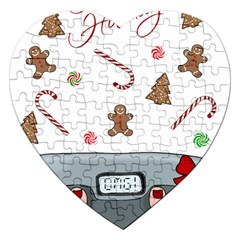 Hilarious Holidays  Jigsaw Puzzle (heart) by Valentinaart