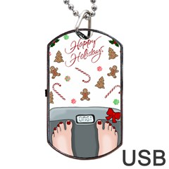 Hilarious Holidays  Dog Tag Usb Flash (one Side) by Valentinaart