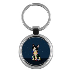 Meowy Christmas Key Chains (round)  by Valentinaart