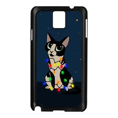 Meowy Christmas Samsung Galaxy Note 3 N9005 Case (black)