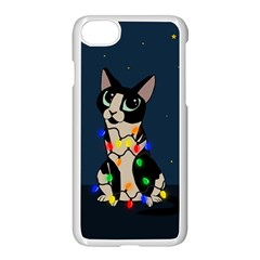 Meowy Christmas Apple Iphone 7 Seamless Case (white) by Valentinaart