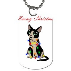 Meowy Christmas Dog Tag (one Side) by Valentinaart