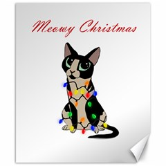 Meowy Christmas Canvas 8  X 10  by Valentinaart