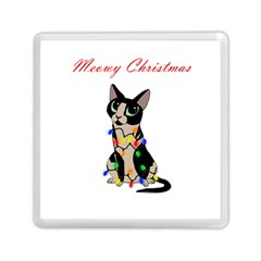 Meowy Christmas Memory Card Reader (square)
