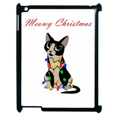 Meowy Christmas Apple Ipad 2 Case (black) by Valentinaart