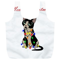 Meowy Christmas Full Print Recycle Bags (l)  by Valentinaart