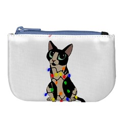 Meowy Christmas Large Coin Purse