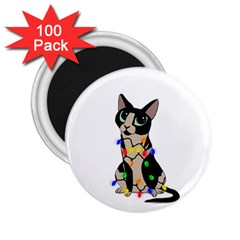 Meowy Christmas 2 25  Magnets (100 Pack)  by Valentinaart