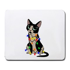 Meowy Christmas Large Mousepads by Valentinaart