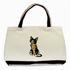 Meowy Christmas Basic Tote Bag (two Sides) by Valentinaart