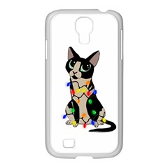 Meowy Christmas Samsung Galaxy S4 I9500/ I9505 Case (white) by Valentinaart
