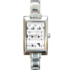 Holidays Rectangle Italian Charm Watch by Valentinaart