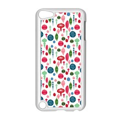Vintage Christmas Hand Painted Ornaments In Multi Colors On White Apple Ipod Touch 5 Case (white) by PodArtist