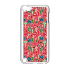 Vintage Christmas Hand Painted Ornaments In Multi Colors On Rose Apple Ipod Touch 5 Case (white) by PodArtist