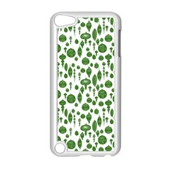 Vintage Christmas Ornaments In Green On White Apple Ipod Touch 5 Case (white) by PodArtist