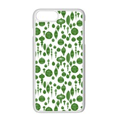 Vintage Christmas Ornaments In Green On White Apple Iphone 8 Plus Seamless Case (white) by PodArtist