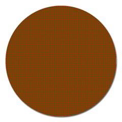 Classic Christmas Red And Green Houndstooth Check Pattern Magnet 5  (round)